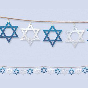 9' Star of David String Garland