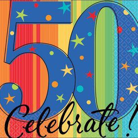 A Year To Celebrate 50Th Birthday Beverage Napkins