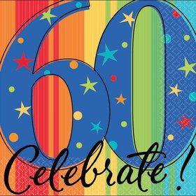 A Year To Celebrate 60Th Birthday Beverage Napkins