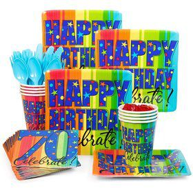 A Year to Celebrate 70th Birthday Standard Tableware Kit