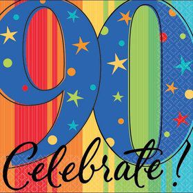 A Year To Celebrate 90Th Birthday Beverage Napkins