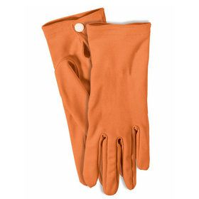 Adult Gloves With Snaps Orange