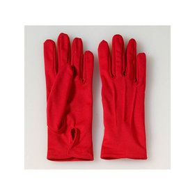Adult Red Gloves With Snaps