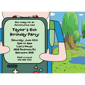 Adventure Time Personalized Invitation (Each)
