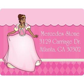 African American Princess Personalized Address Labels (sheet of 15)