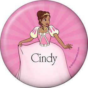 African American Princess Personalized Button (each)