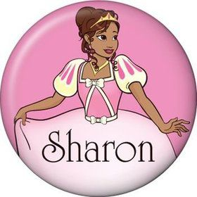 African American Princess Personalized Mini Button (each)