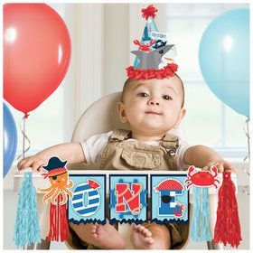 Ahoy Birthday High Chair Decoration Kit