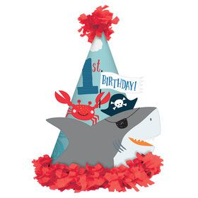 Ahoy Birthday Paper Cone Hat (6)