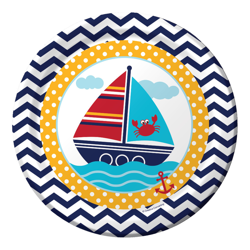 "Ahoy Matey 9"" Lunch Plates (8 Count) BB427226"