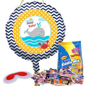 Ahoy Matey Baby Shower Pull String Economy Pinata Kit