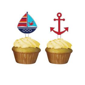 Ahoy Matey Cupcake Toppers (12 Count)