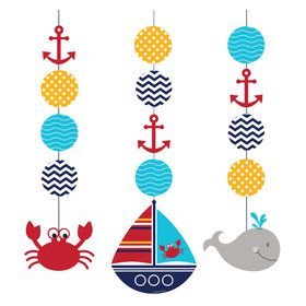 Ahoy Matey Hanging Decorations (3 Count)