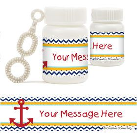 Ahoy Matey Personalized Bubbles (18 Pack)