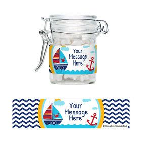 Ahoy Matey Personalized Glass Apothecary Jars (12 Count)