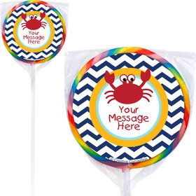 Ahoy Matey Personalized Lollipops (12 Pack)