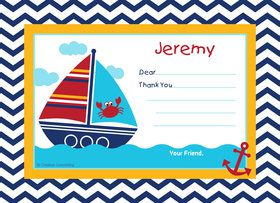 Ahoy Matey Personalized Thank You (Each)