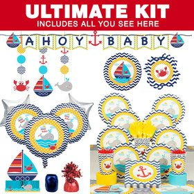 Ahoy Matey Ultimate Baby Shower Tableware Kit (Serves 8)
