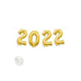 "Air-Fillable 13"" Gold Letter Balloon Banner Kit ""2019"""