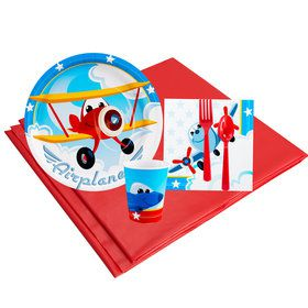 Airplane Adventure 16 Guest Party Pack
