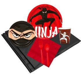 Ninja Warrior Party 16 Guest Party Pack