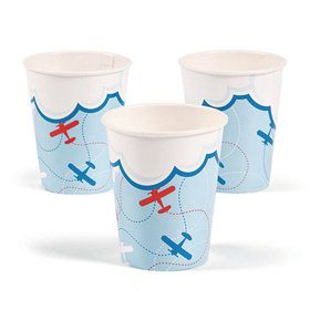 Airplanes Up & Away 9 oz Cups (8)