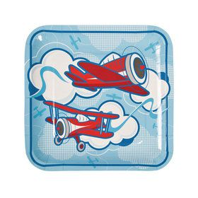 Airplanes Up & Away Dinner Plates (8)