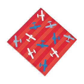 Airplanes Up & Away Lunch Napkins (16)