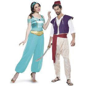 Aladdin Princess Jasmine Couple Costume Kit