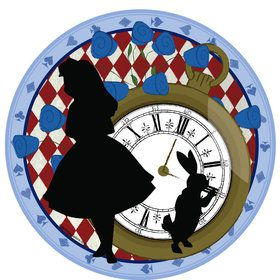 "Alice in Wonderland 9"" Plate (8 Count)"