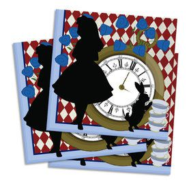 Alice in Wonderland Lunch Napkin (16 Count)