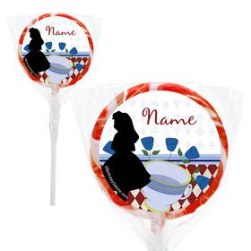 "Alice in Wonderland Personalized 2"" Lollipops (20 Pack)"