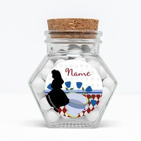 "Alice in Wonderland Personalized 3"" Glass Hexagon Jars (Set of 12)"