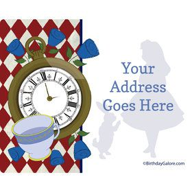 Alice in Wonderland Personalized Address Labels (Sheet of 15)