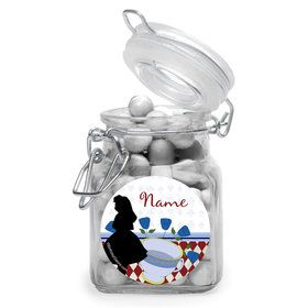 Alice in Wonderland Personalized Glass Apothecary Jars (12 Count)