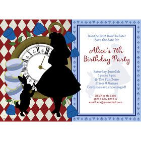 Alice in Wonderland Personalized Invitation (Each)