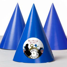 Alice in Wonderland Personalized Party Hats (8 Count)