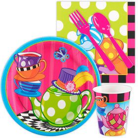 Alice in Wonderland Standard Birthday Party Tableware Kit (Serves 8)