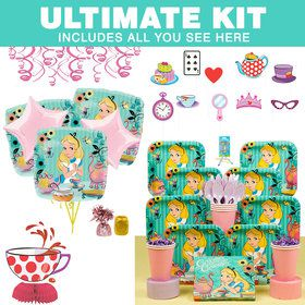 Alice in Wonderland Ultimate Birthday Party Tableware Kit (Serves 8)
