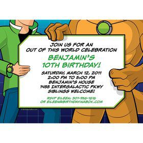 Alien Hero Personalized Invitation (each)