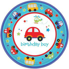"All Aboard 1st Birthday 7"" Cake Plates (18 Pack)"