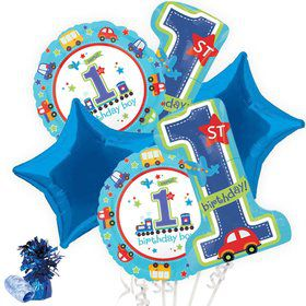 All Aboard 1st Birthday Boy Balloon Bouquet Kit