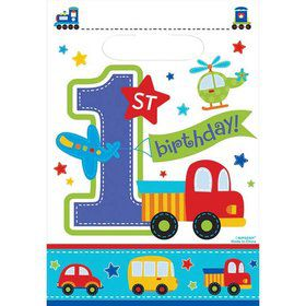 All Aboard 1st Birthday Favor Bags (8)