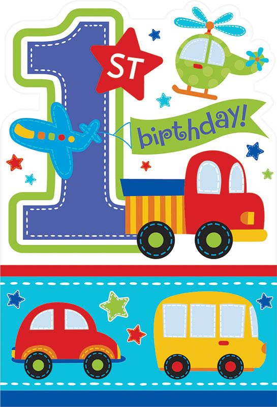 All Aboard 1St Birthday Invitations (8 Pack) BB491421