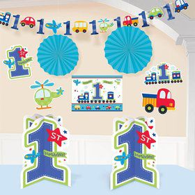 All Aboard 1st Birthday Room Decorating Kit (Each)
