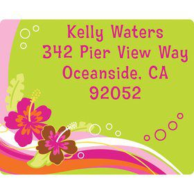 Aloha Luau Personalized Address Labels (Sheet of 15)