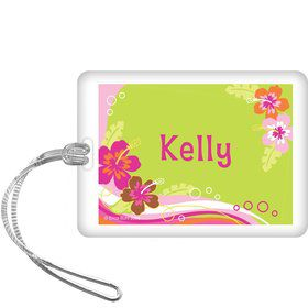 Aloha Luau Personalized Bag Tag (each)