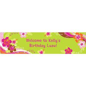 Aloha Luau Personalized Banner (each)
