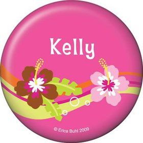 Aloha Luau Personalized Button (each)