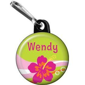Aloha Luau Personalized Mini Zipper Pull (each)